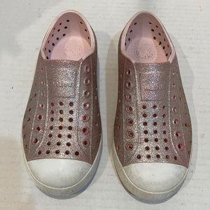 Natives Shoes Light Pink Glitter C12 / C 12